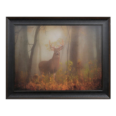 Majesty in the Fog Framed Art Print