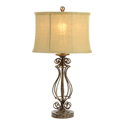 Open Scrolls Table Lamp