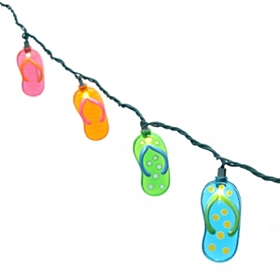 Multi-Colored Flip Flop String Lights
