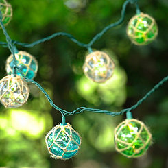 Jute-Wrapped Nautical String Lights