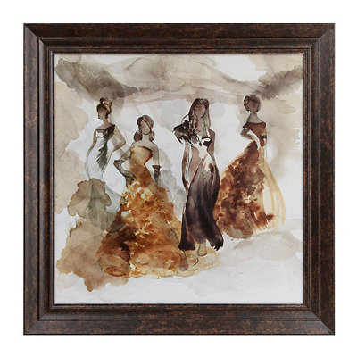 Runway Models Framed Art Print