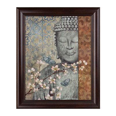 Buddha Floral Framed Art Print