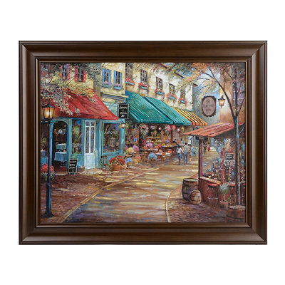 Flower Market Framed Art Print