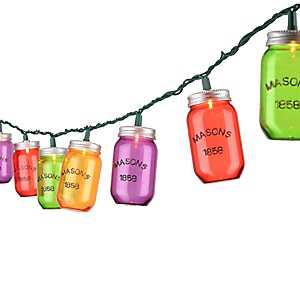 Multicolor Mason Jar String Lights