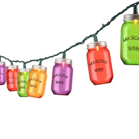 Multicolor Mason Jar String Lights