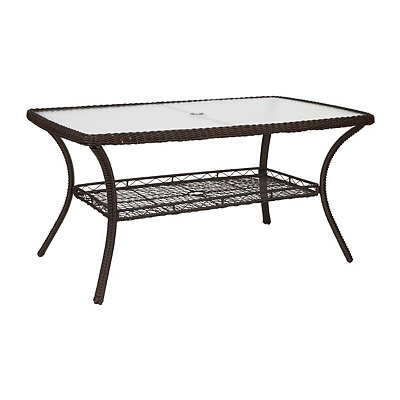 Savannah Brown Wicker Dining Table