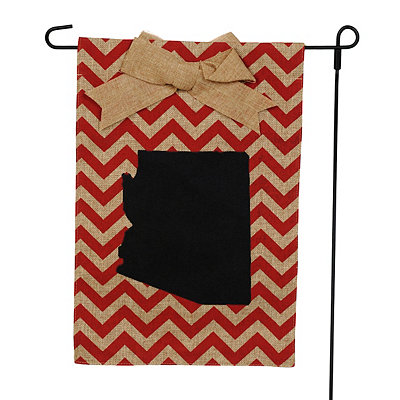 Arizona Burlap Flag Set