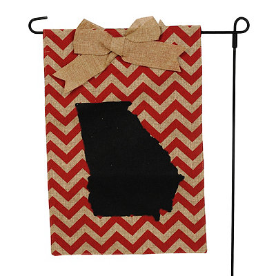 Georgia Burlap Flag Set