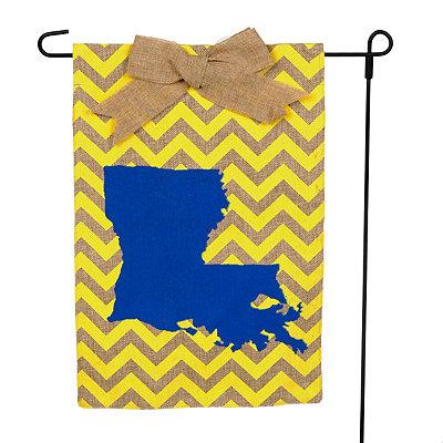 Louisiana Burlap Flag Set