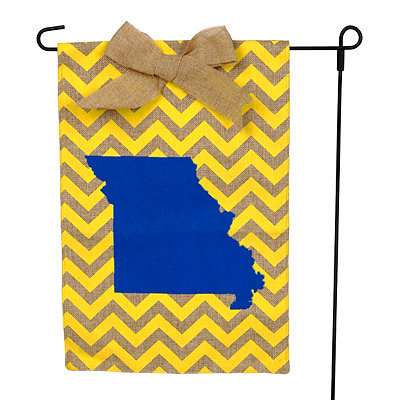 Missouri Burlap Flag Set
