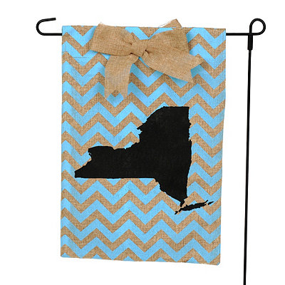 New York Burlap Flag Set