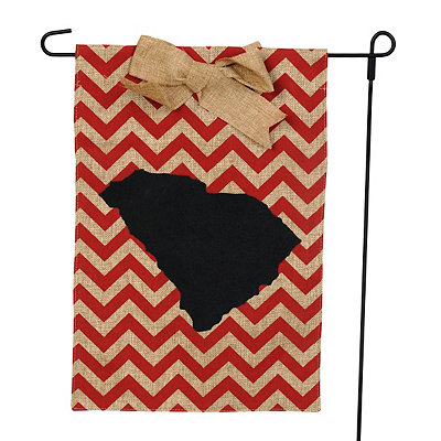 South Carolina Burlap Flag Set