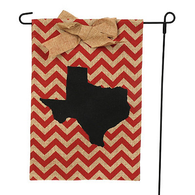 Texas Burlap Flag Set