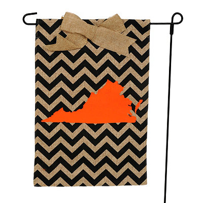 Virginia Burlap Flag Set
