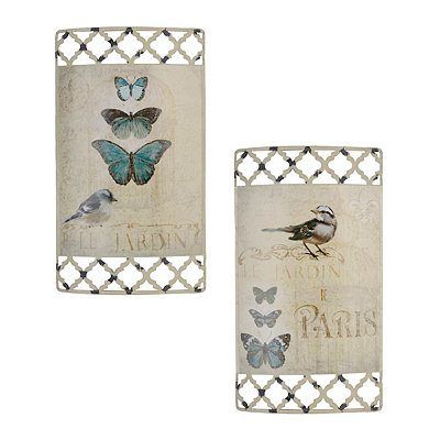 Le Jardin Metal Signs, Set of 2