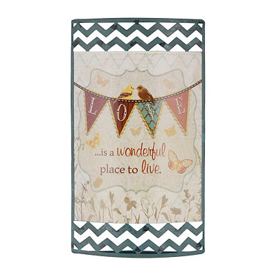 Love is a Wonderful Place Metal Sign