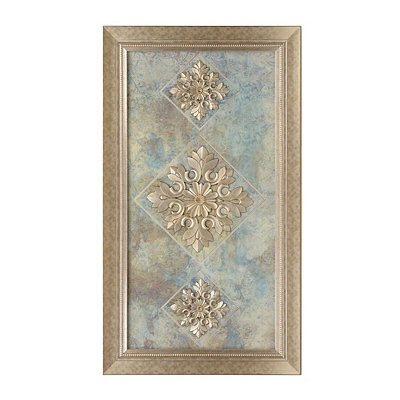 Champagne Floral Medallion Shadowbox