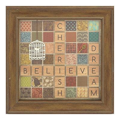 Scrabble Sentiment Shadowbox