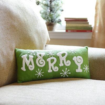 Green Merry Accent Pillow