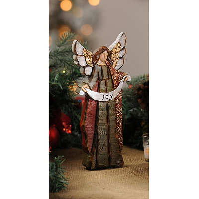 Rustic Christmas Joy Angel