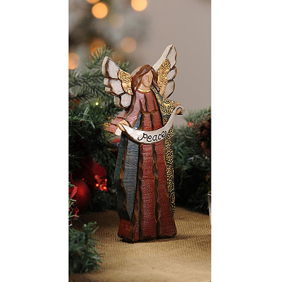 Rustic Christmas Peace Angel