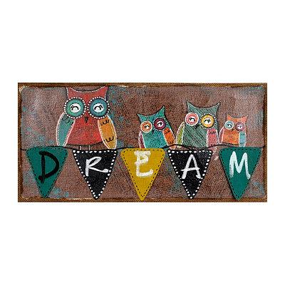 Burlap Dream Wall Sign