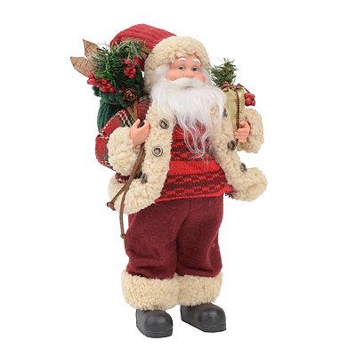 Cozy Sweater Santa Statue