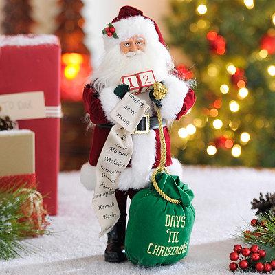 Days Til Christmas Santa Statue