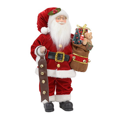 Traditional Santa with Toys Statue