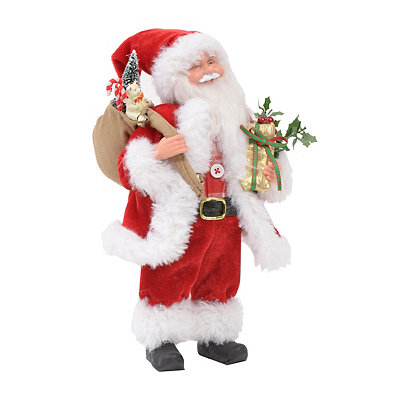 Traditional Santa with Presents Statue