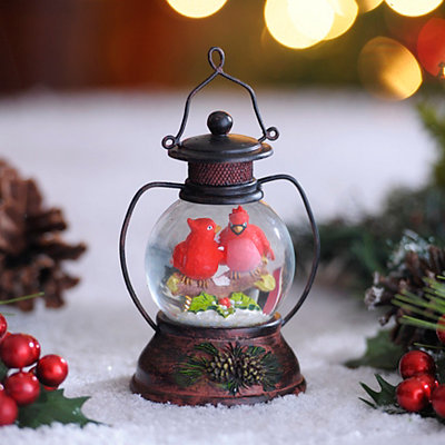 Kissing Cardinals Snow Globe