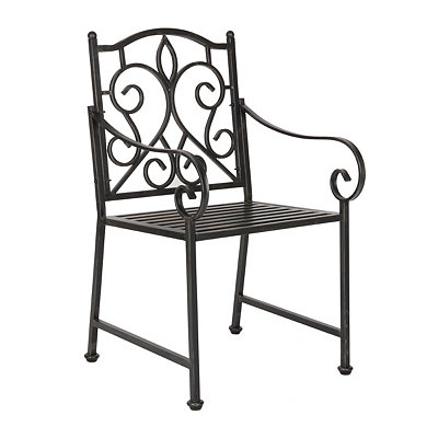 Black Scroll Metal Chair
