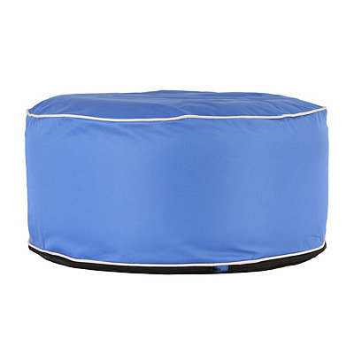 Indoor Outdoor Blue Pouf