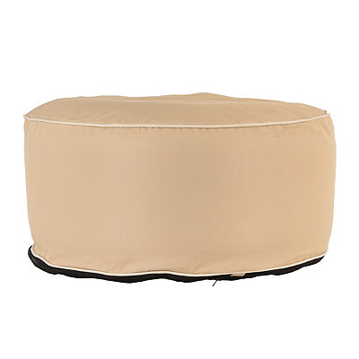 Indoor Outdoor Neutral Pouf