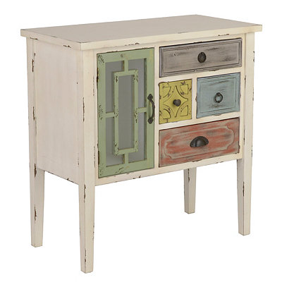 Eclectic Distressed 4-Drawer Cabinet