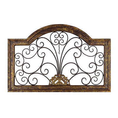 Eliza Distressed Gold Arch Plaque