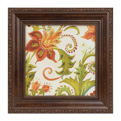 China Spice Floral I Framed Art Print