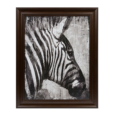 Black & White Zebra Framed Art Print
