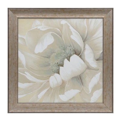 White Floral II Framed Art Print