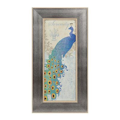 Jeweled Peacock I Framed Art Print