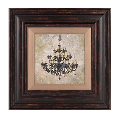 Rustic Chandelier I Framed Art Print