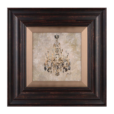 Rustic Chandelier II Framed Art Print