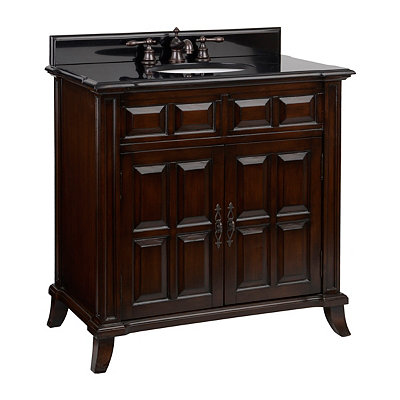 Brown 2-Door Vanity Sink, 36 in.