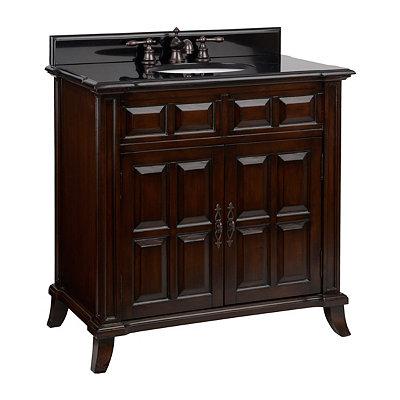 Brown 2-Door Vanity Sink, 36 in.