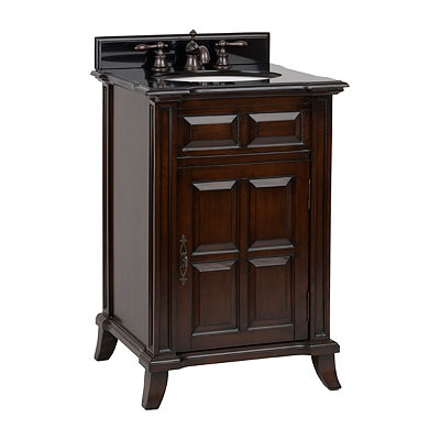 Brown Single Door Vanity Sink, 24 in.