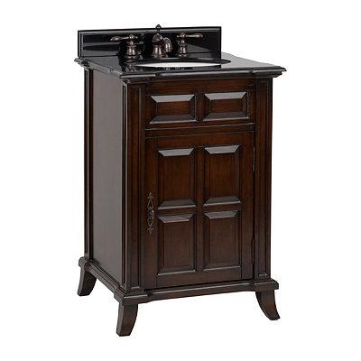 Brown Single Door Vanity Sink, 24 in.