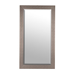 Silver Woven Framed Mirror, 38x68 in.