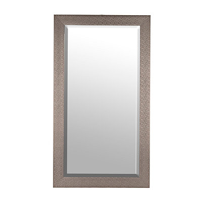 Silver Woven Framed Mirror, 30x60