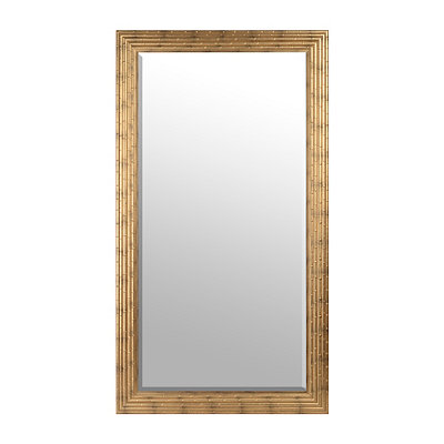 Golden Bamboo Framed Mirror, 30x60