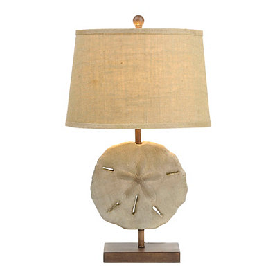 Rustic Sand Dollar Table Lamp